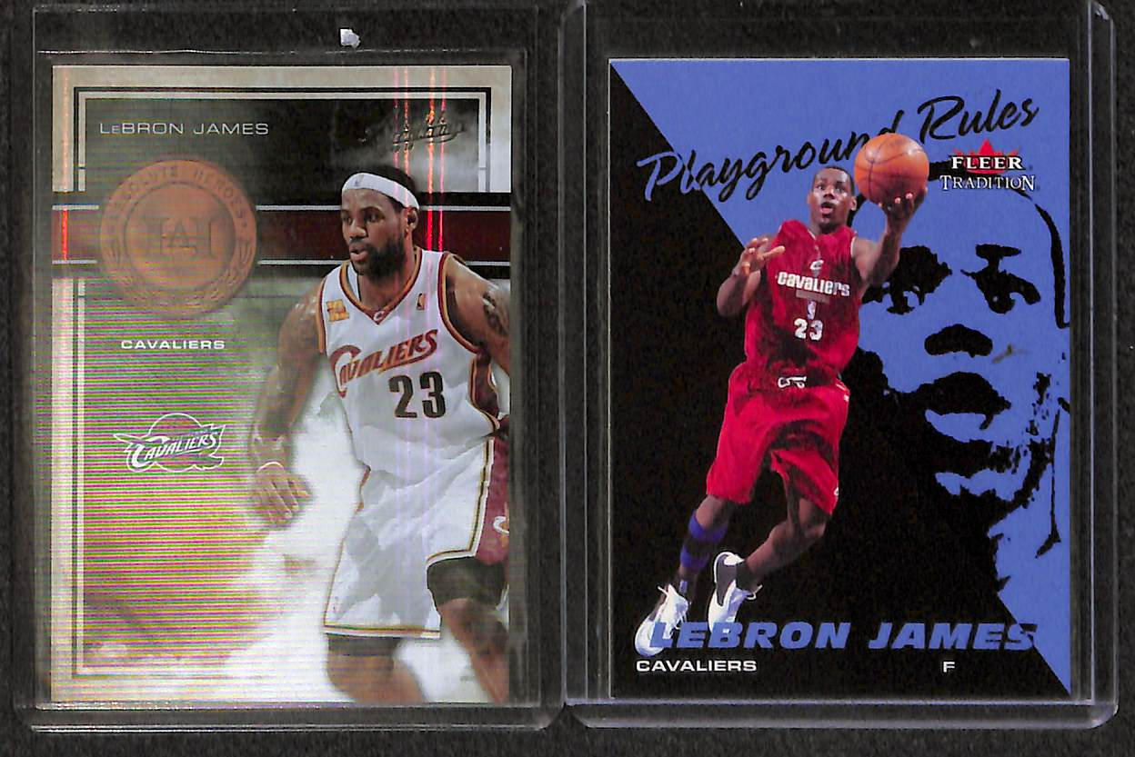 Lot Detail Lot Of 11 Lebron James Rookie Parallel Cards