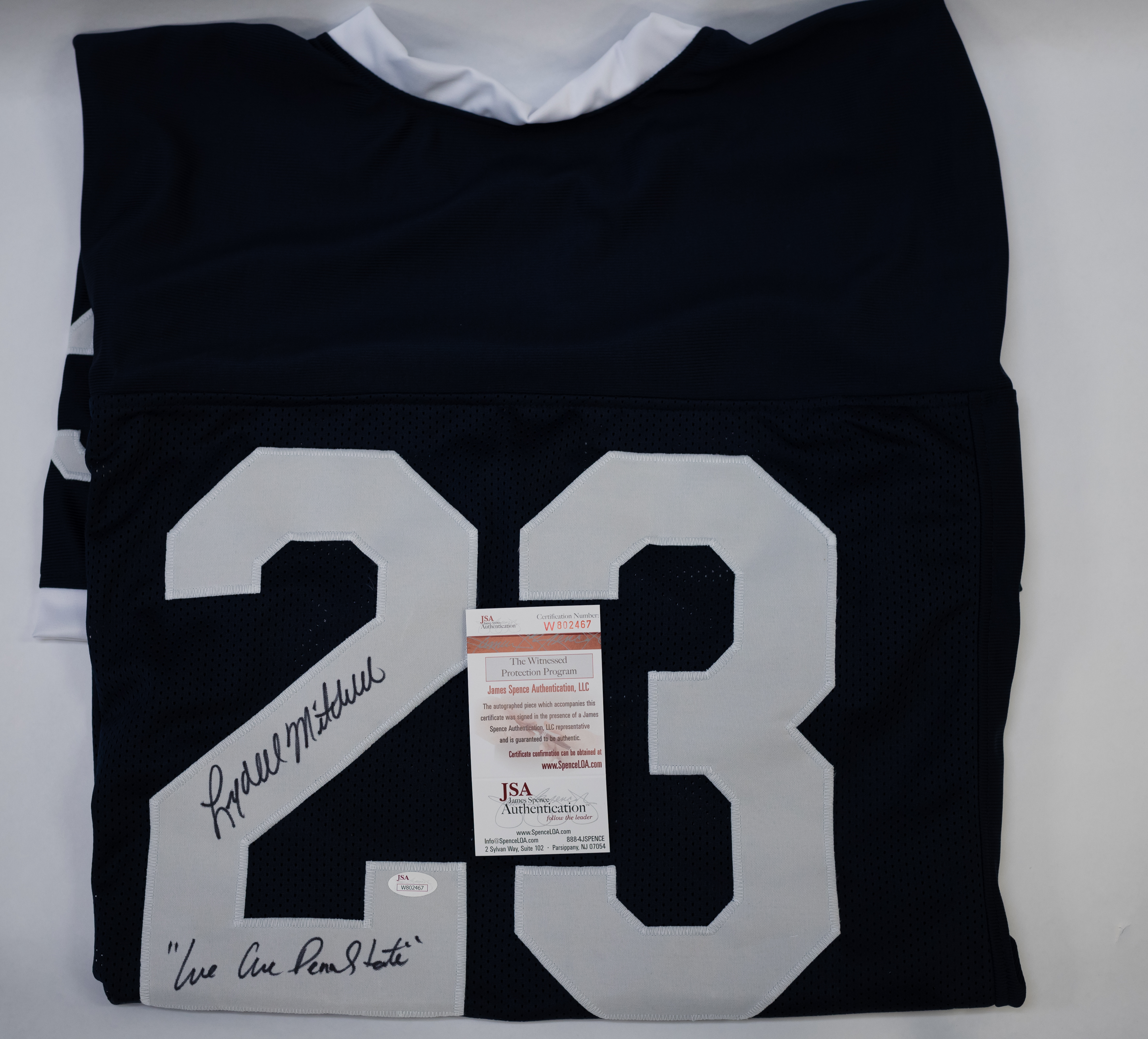 Lot detail lydell mitchell signed inscribed penn state jersey lydell mitchell signed inscribed penn state jersey jsa 1betcityfo Choice Image