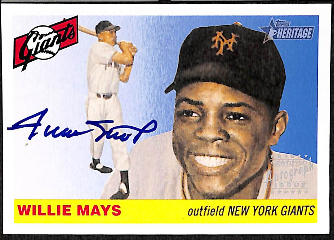 Lot Detail 2004 Topps Heritage Willie Mays Certified On