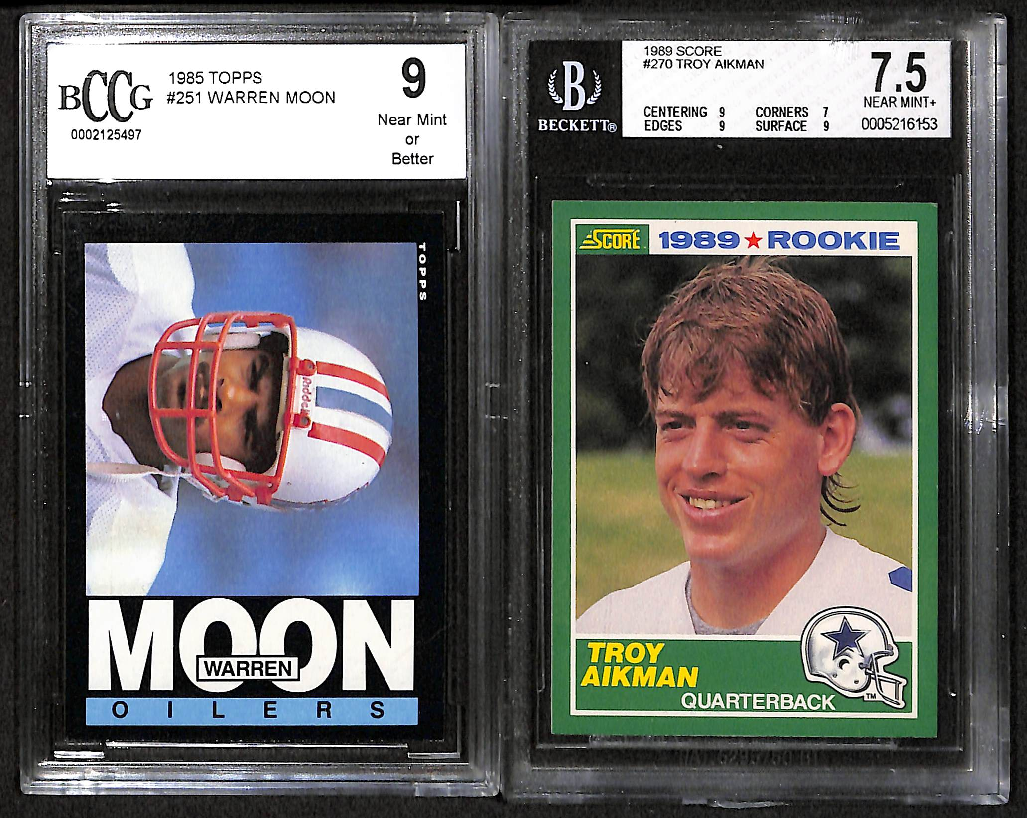 Lot Detail Lot Of 9 Football Graded Rookie Cards W Jerry Rice