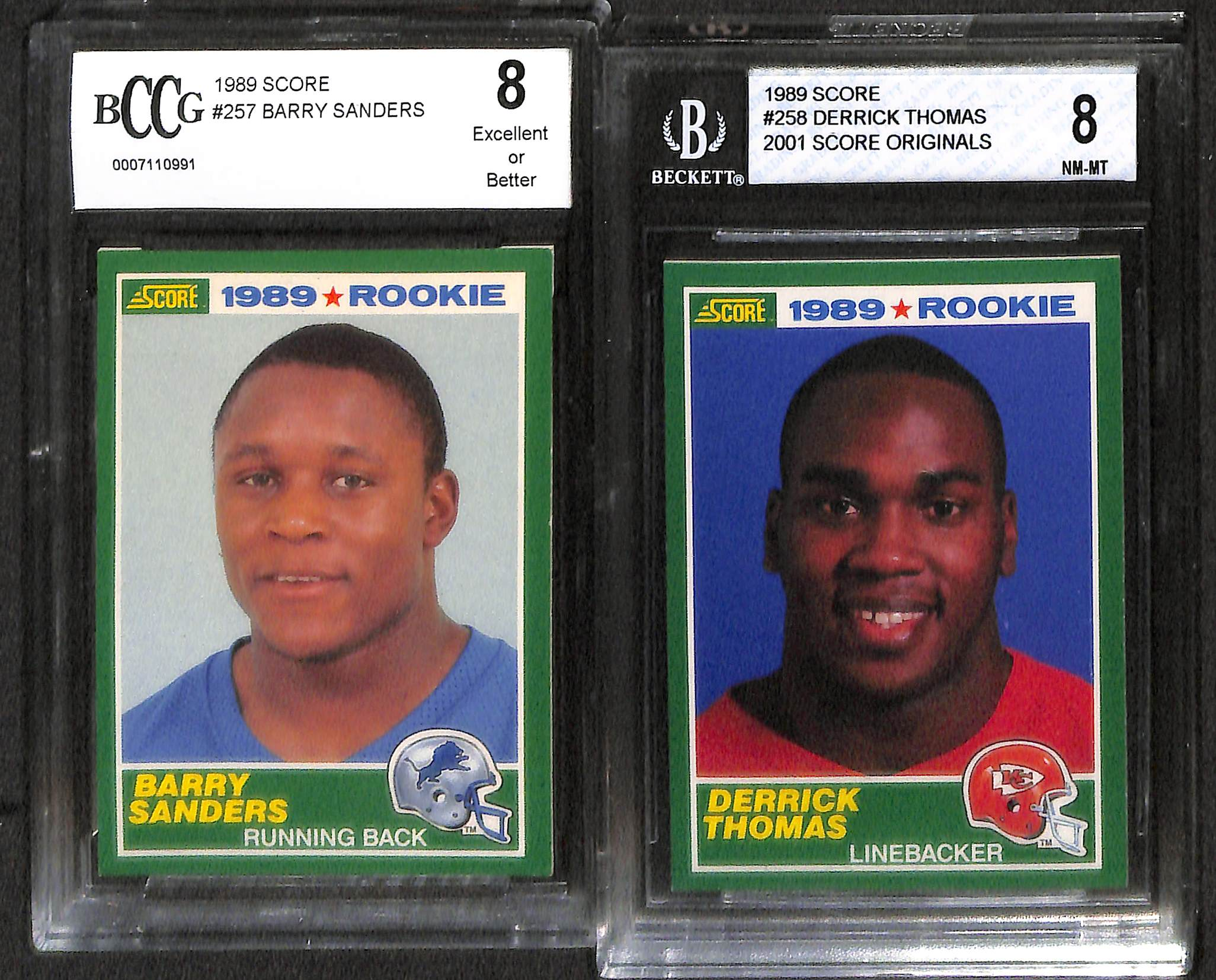 Lot Detail Lot Of 9 Football Graded Rookie Cards W Jerry
