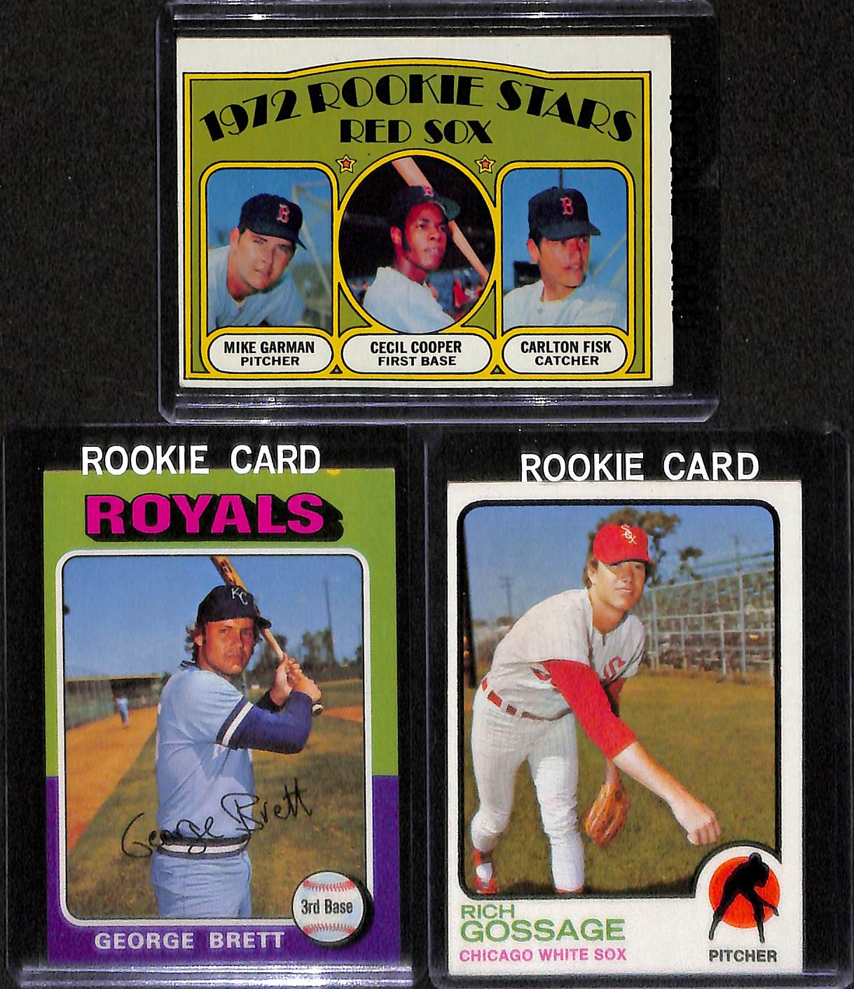 Lot Detail Lot Of 5 Baseball Stars Rookie Cards W Johnny Bench