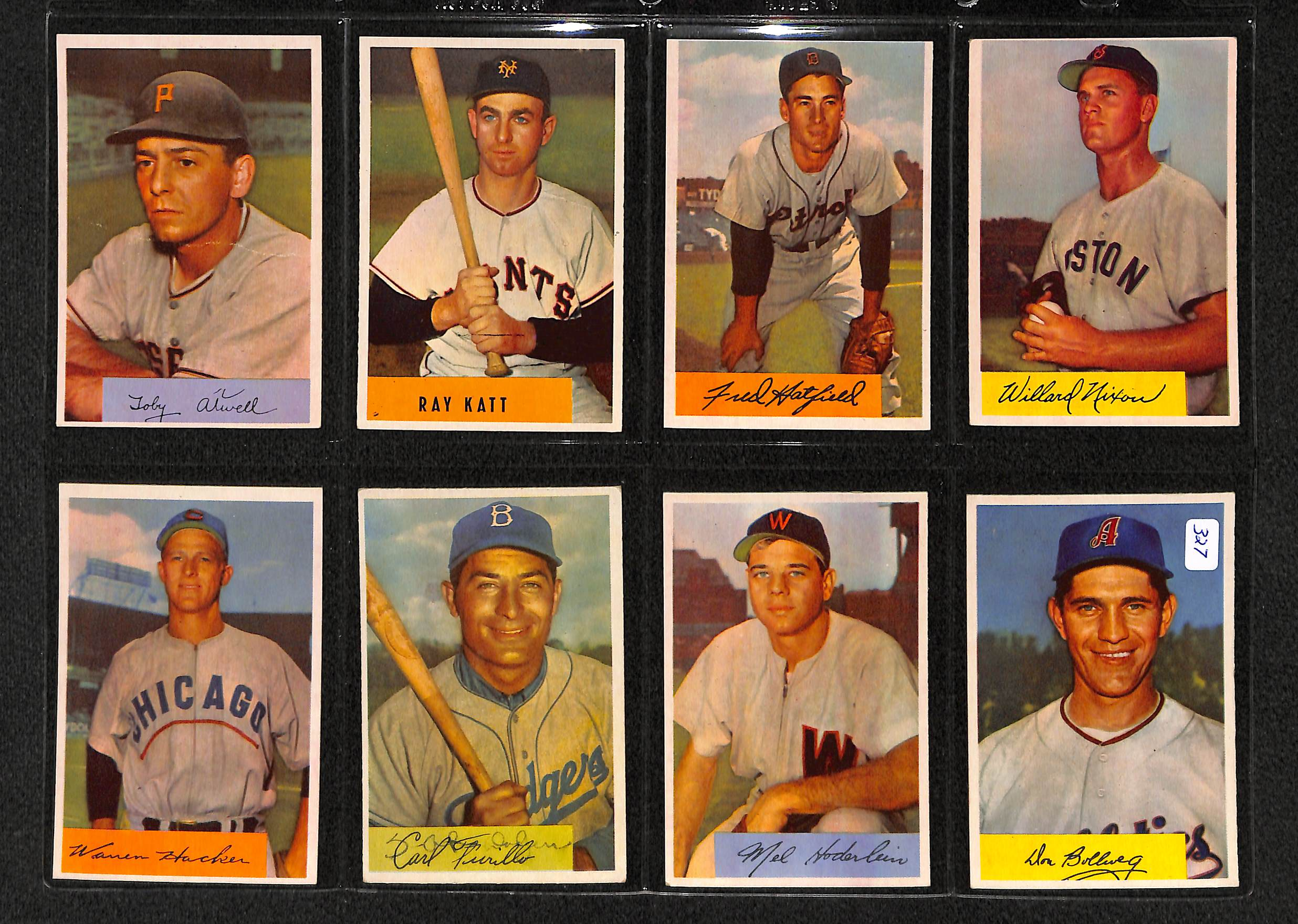 Lot Detail Lot Of 23 1954 Bowman Baseball Cards W Early Wynn