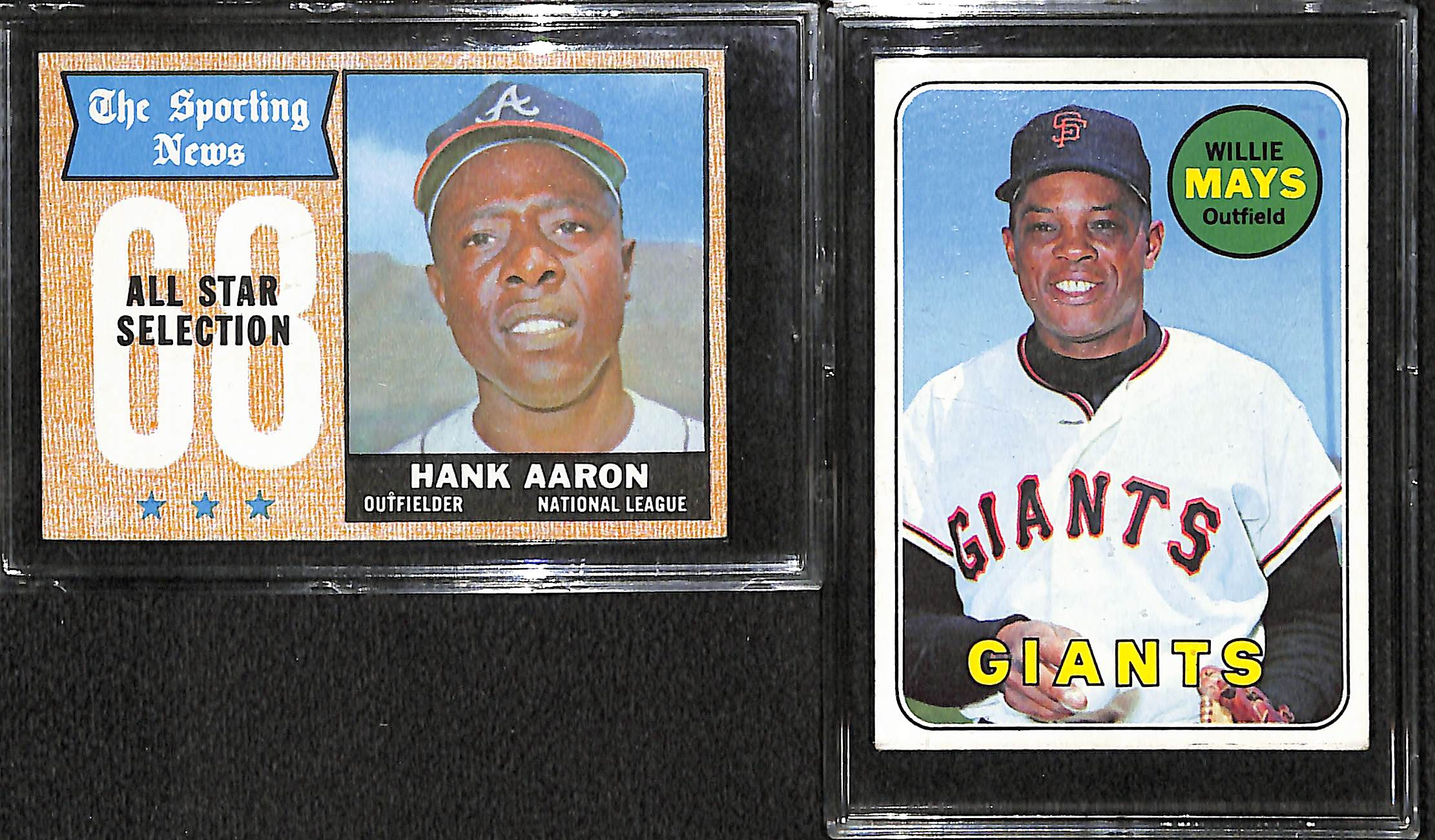 Lot Of 330 1968 69 Topps Baseball Cards W Hank Aaron All Star
