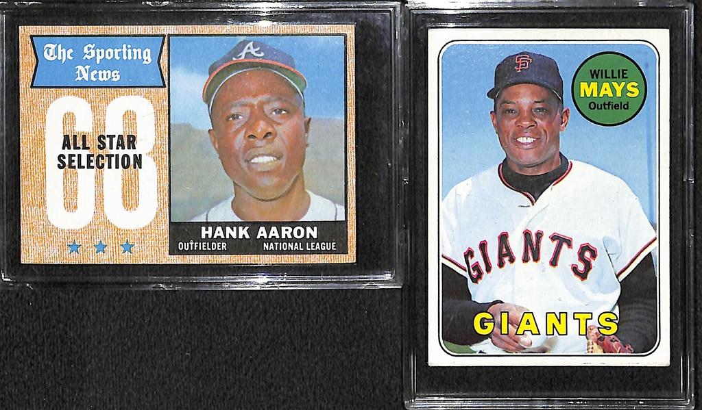Lot Detail Lot Of 330 1968 69 Topps Baseball Cards W 1968