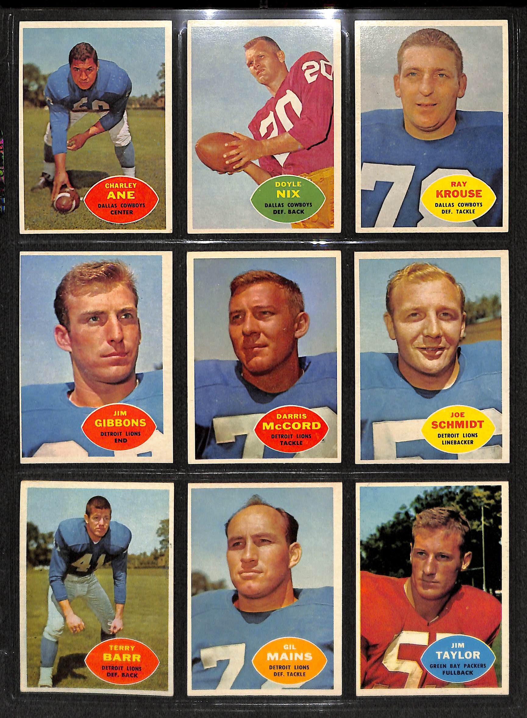 6c53676fec2 Lot Detail - Lot Of 98 1960 Topps Football Cards w. Lenny Moore ...