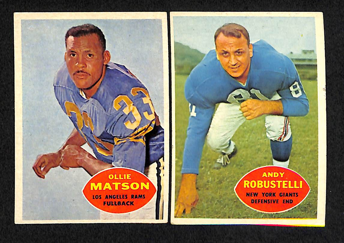 eef974df6c5 Lot Detail - Lot Of 98 Assorted 1960 Topps Football Cards w. Ray ...