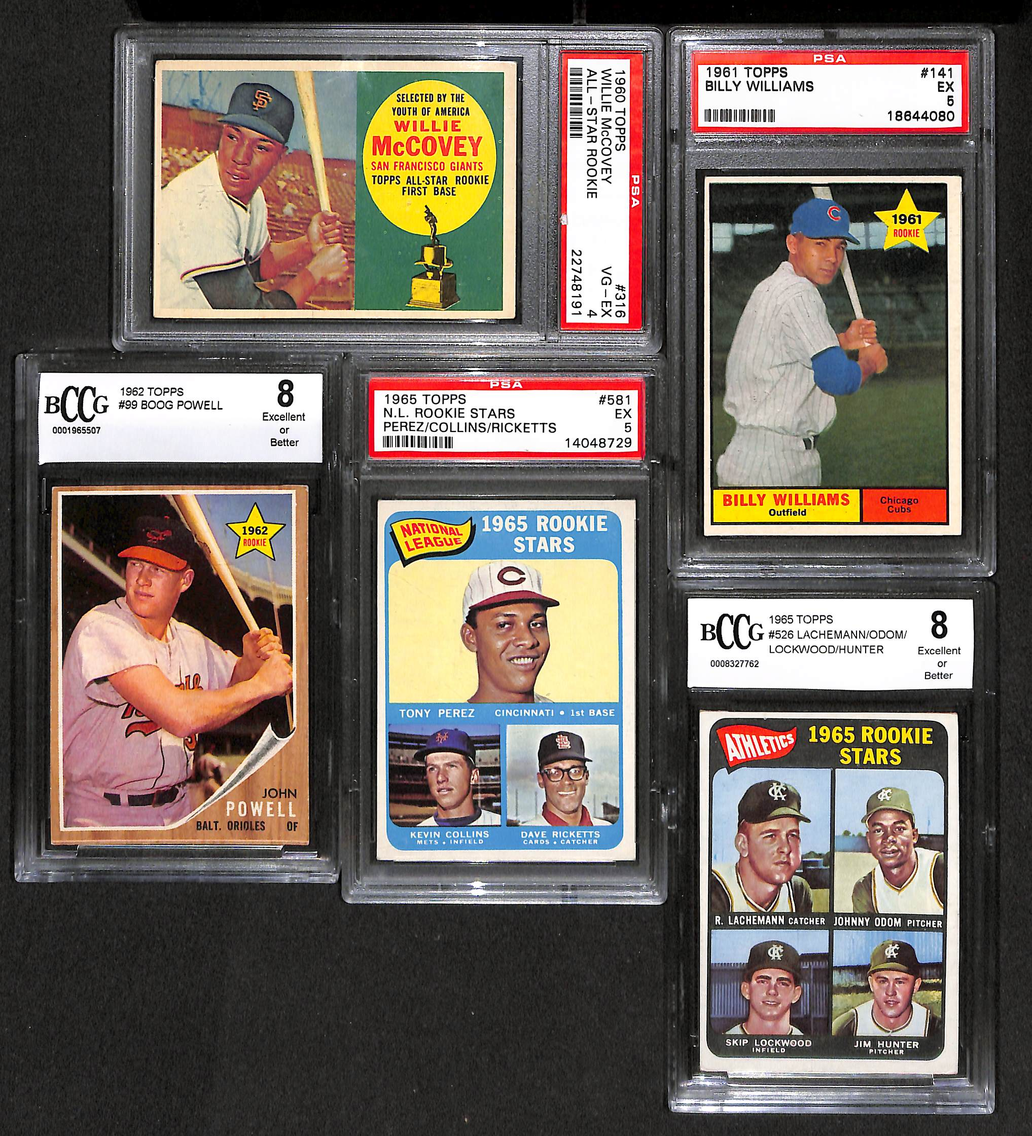 Lot Of 5 Baseball Graded Rookie Cards From