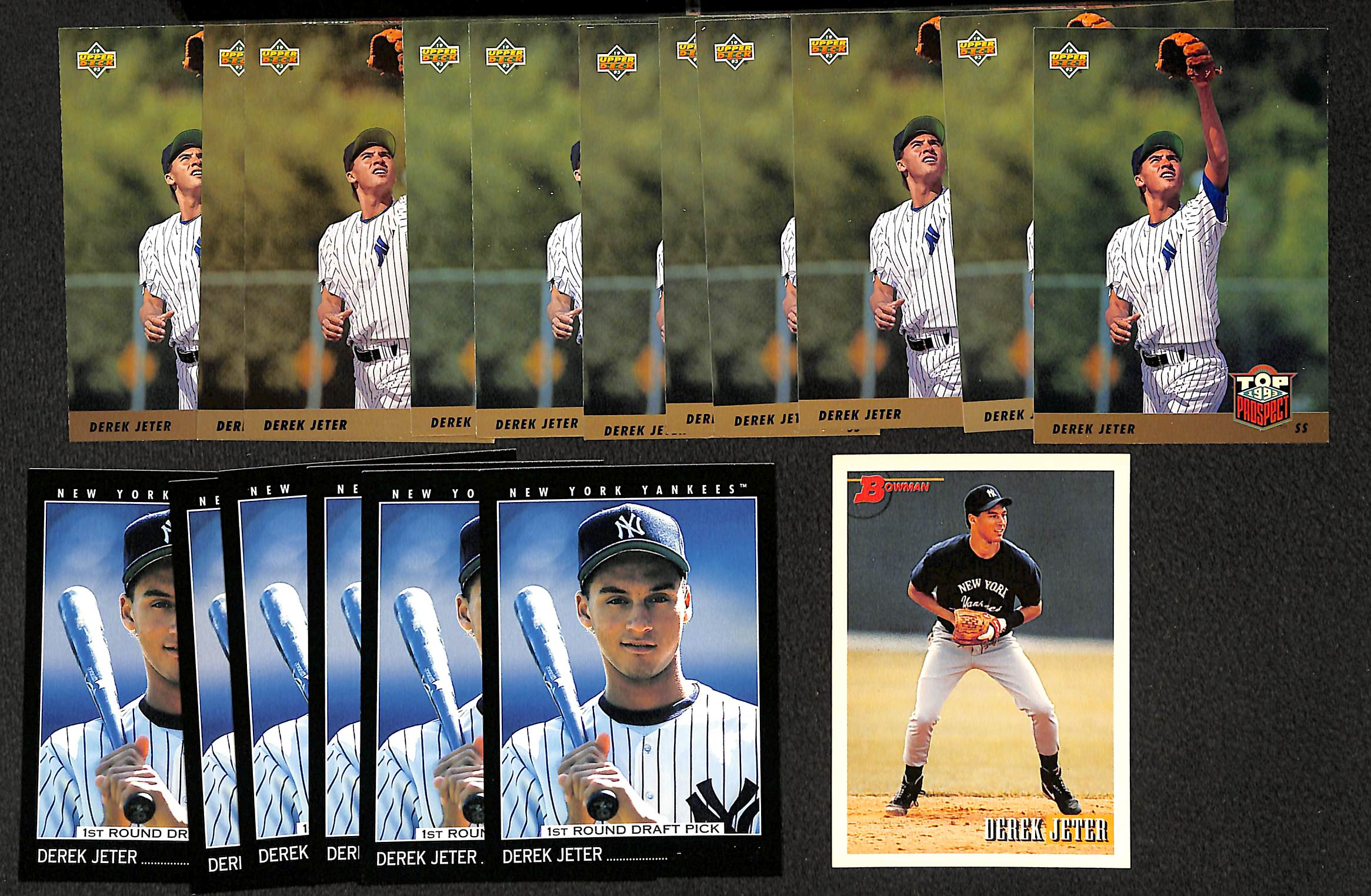 Lot Detail Lot Of 18 Derek Jeter Rookie Cards Inc6