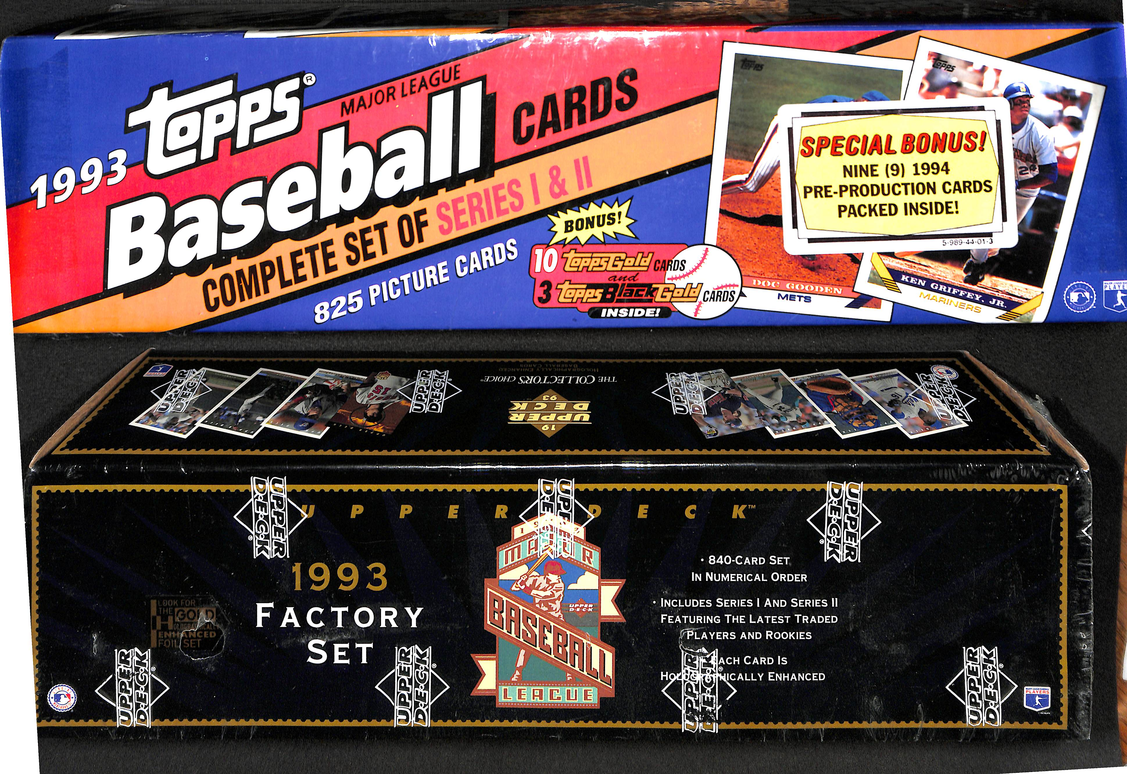 Lot Detail Lot Of 2 1993 Factory Sealed Baseball Card Sets