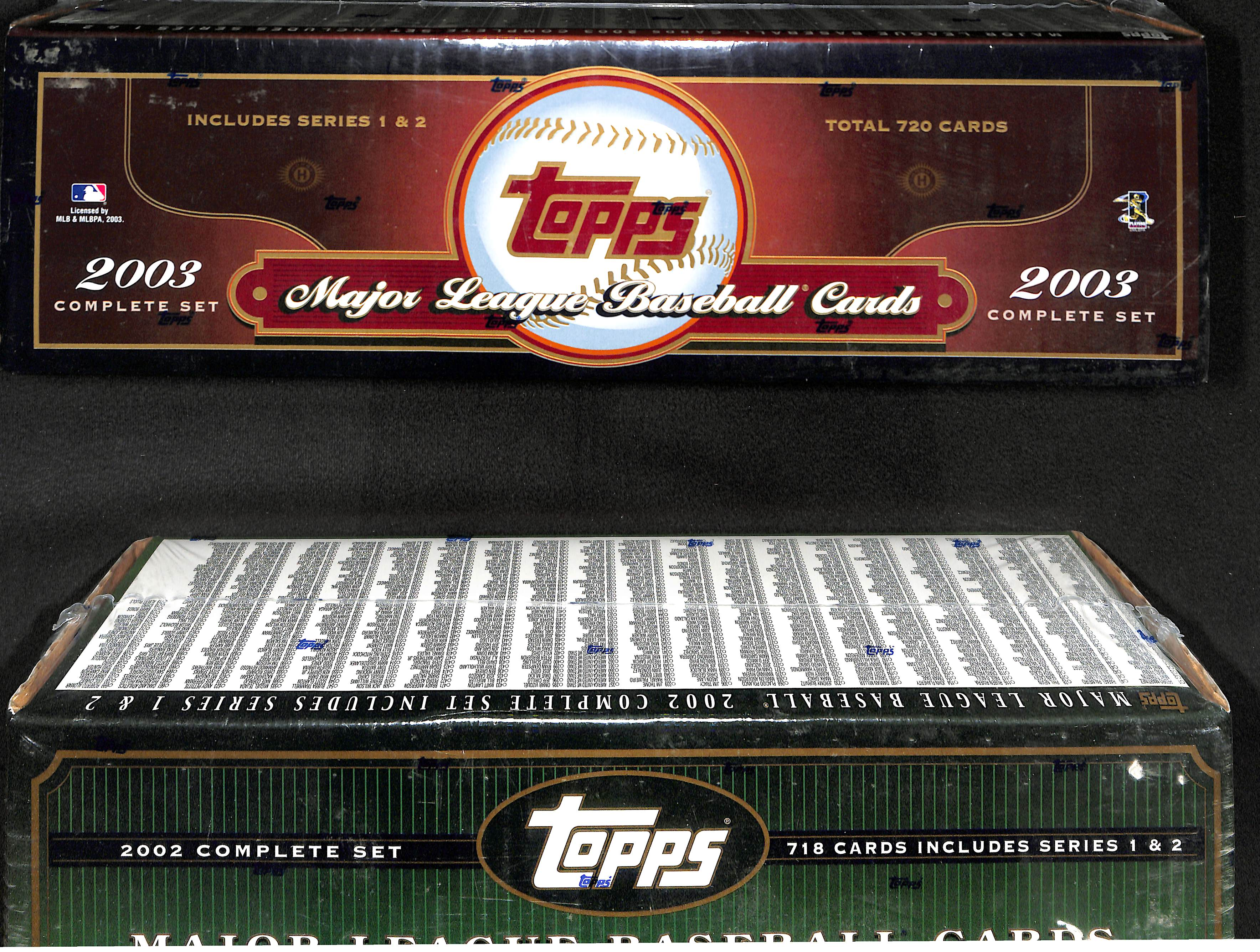Lot Detail Lot Of 2 2002 2003 Topps Factory Sealed