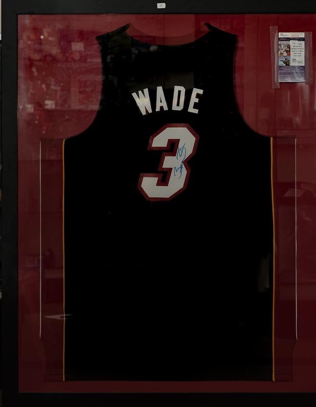 Nice Dwyane Wade Miami Heat Signed And Framed Jersey   JSA ...