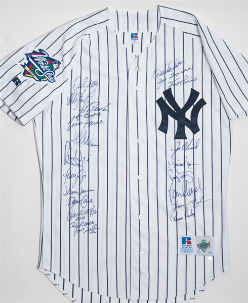 hot sale online 08e90 3f9f0 Lot Detail - 1998 New York Yankees World Series Team Signed ...