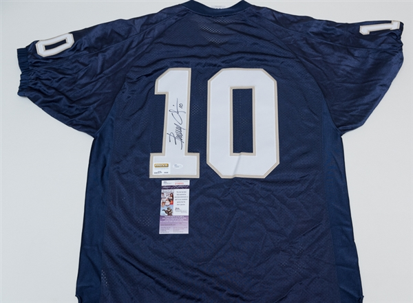 Lot Detail - Brady Quinn Signed Notre Dame Jersey - JSA