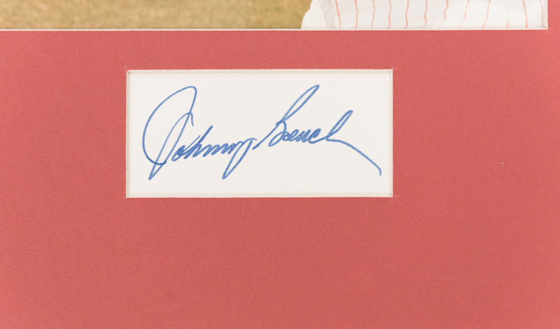 Lot Detail Johnny Bench Pete Rose Signed Photo Cut Displays