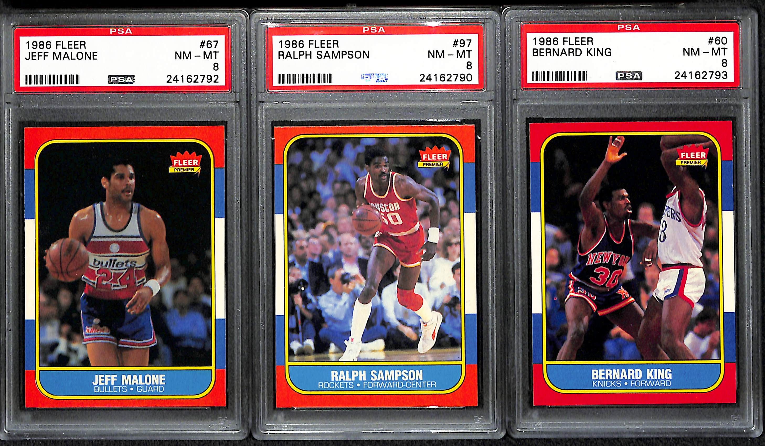 Lot Detail Lot of 9 1986 Fleer PSA Graded Cards w Sam Perkins