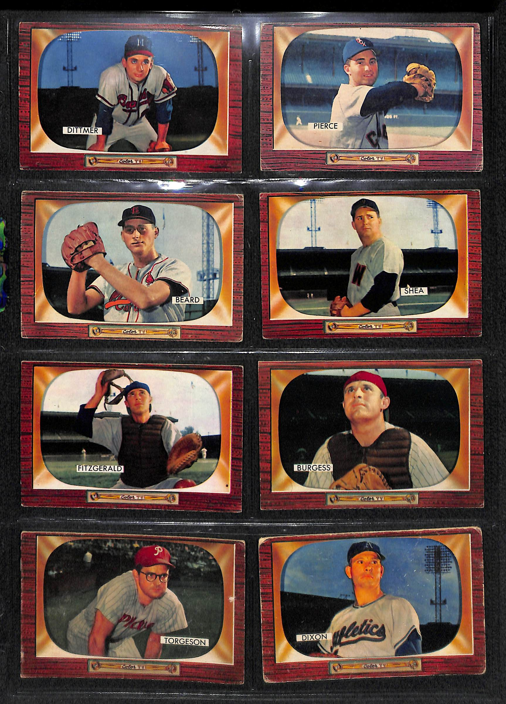 Lot Detail Lot Of 48 1955 Bowman Baseball Cards With Willie Mays