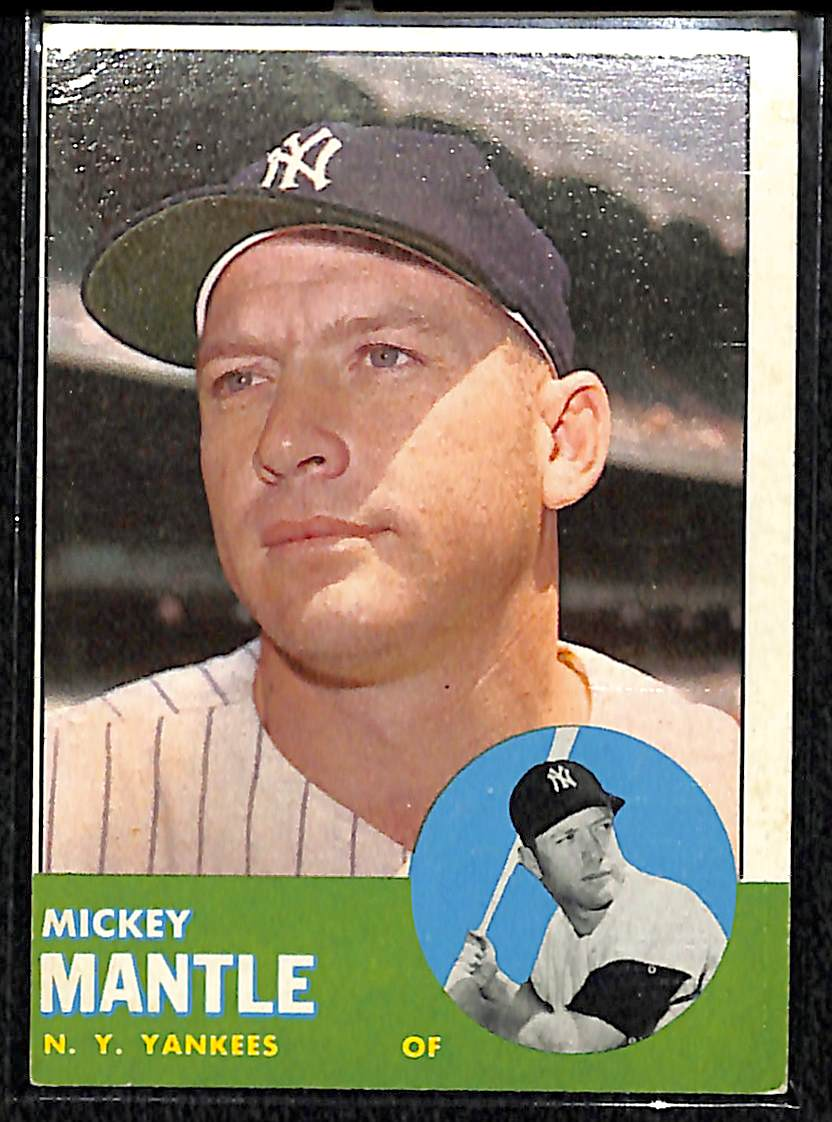 Lot Detail 1963 Topps 200 Mickey Mantle Card