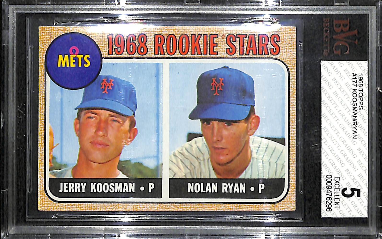 Lot Detail 1968 Topps Nolan Ryan Rookie Card Bvg 5