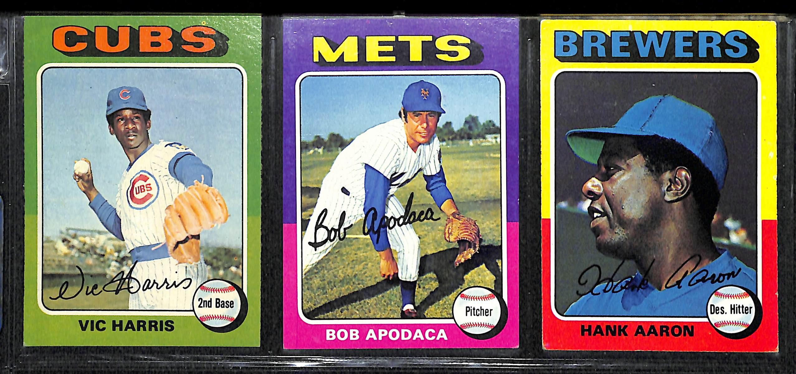 Lot Detail 1975 Topps Baseball Card Set W Brett Yount Rcs