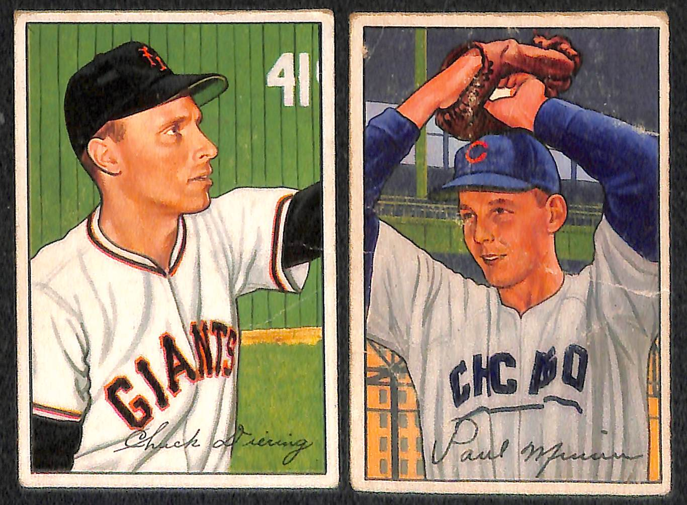 Berra Lot Of 12 1951 52 Bowman Baseball Cards W