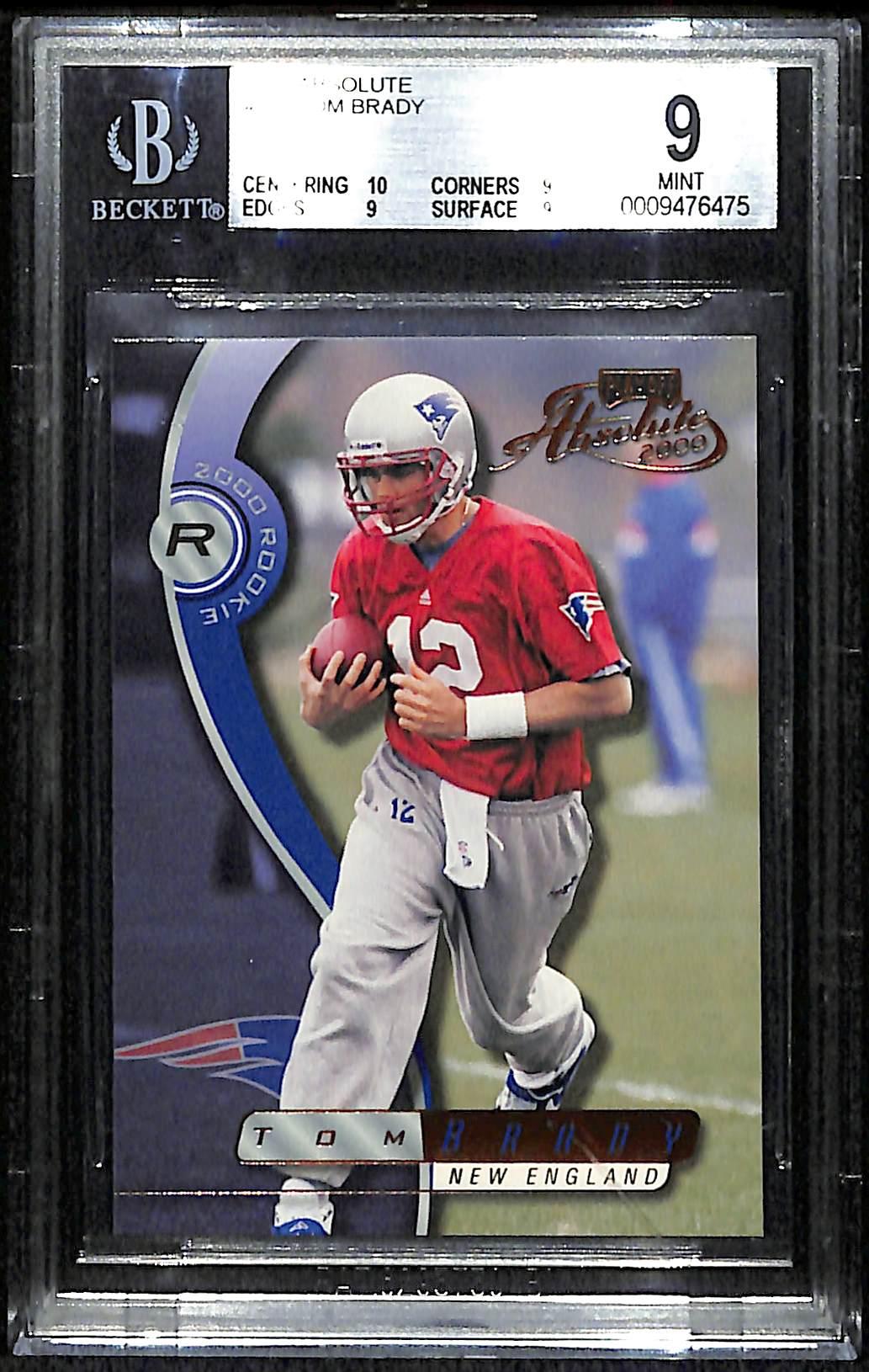 Lot Detail 2000 Absolute Tom Brady Rookie Card Bgs 9