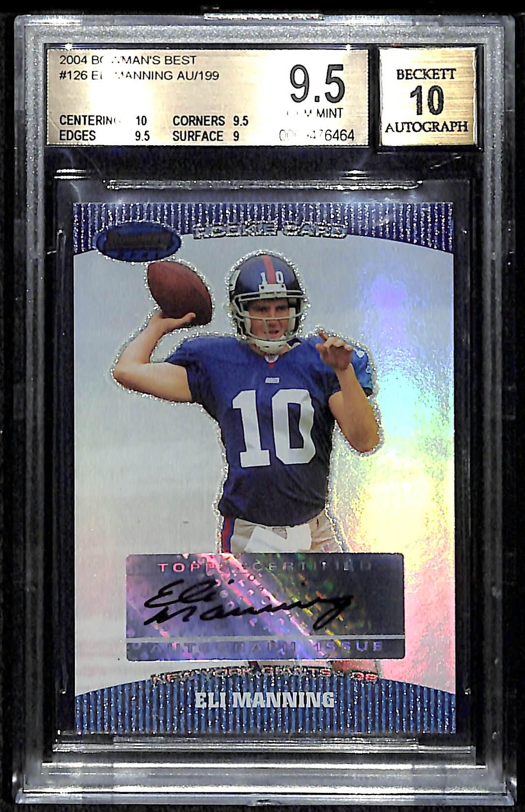 Lot Detail 2004 Bowmans Best Eli Manning Autograph Rookie