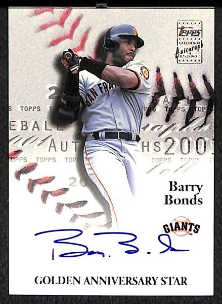 Lot Detail 2001 Topps Golden Anniversary Barry Bonds Autograph Card