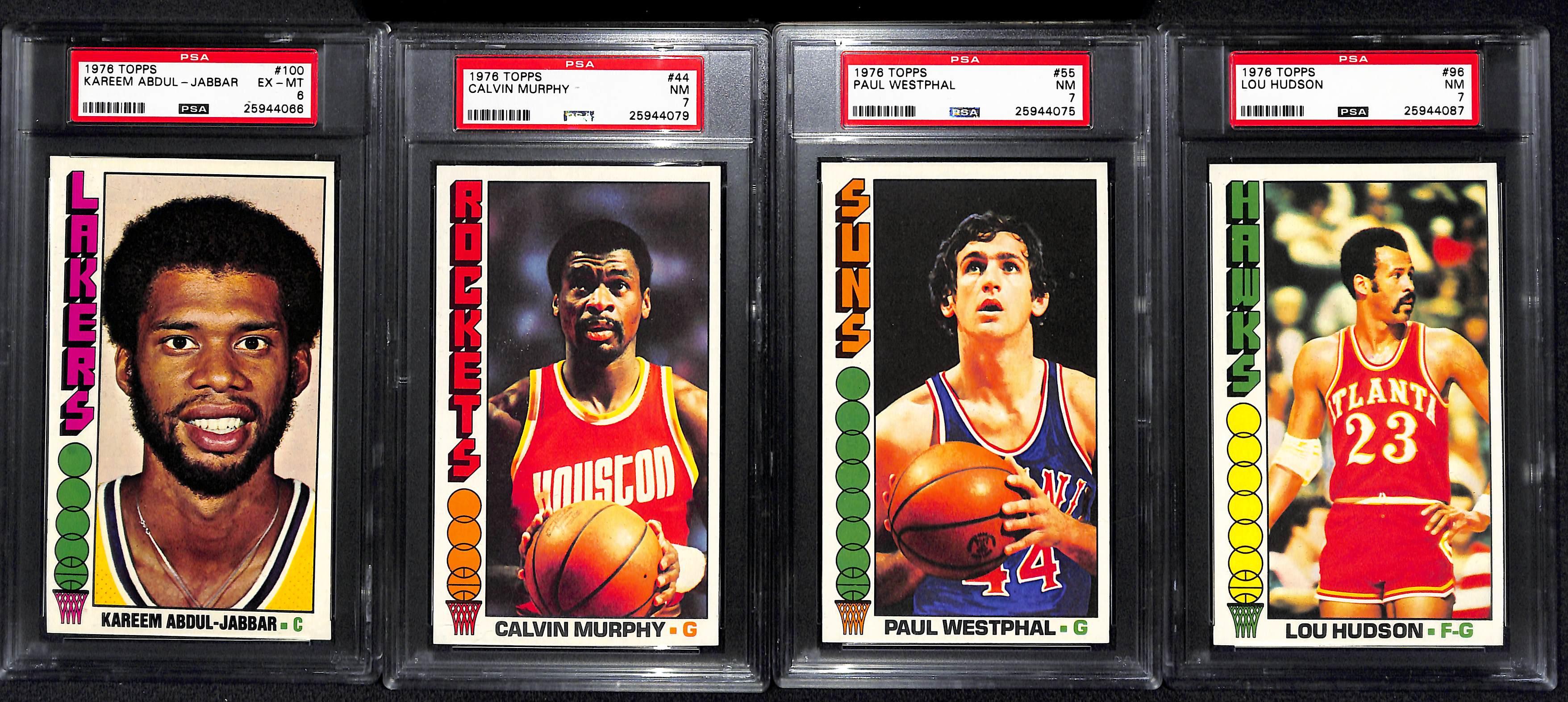 Lot Detail Lot of 12 1976 Topps Basketball Cards w Kareem Abdul