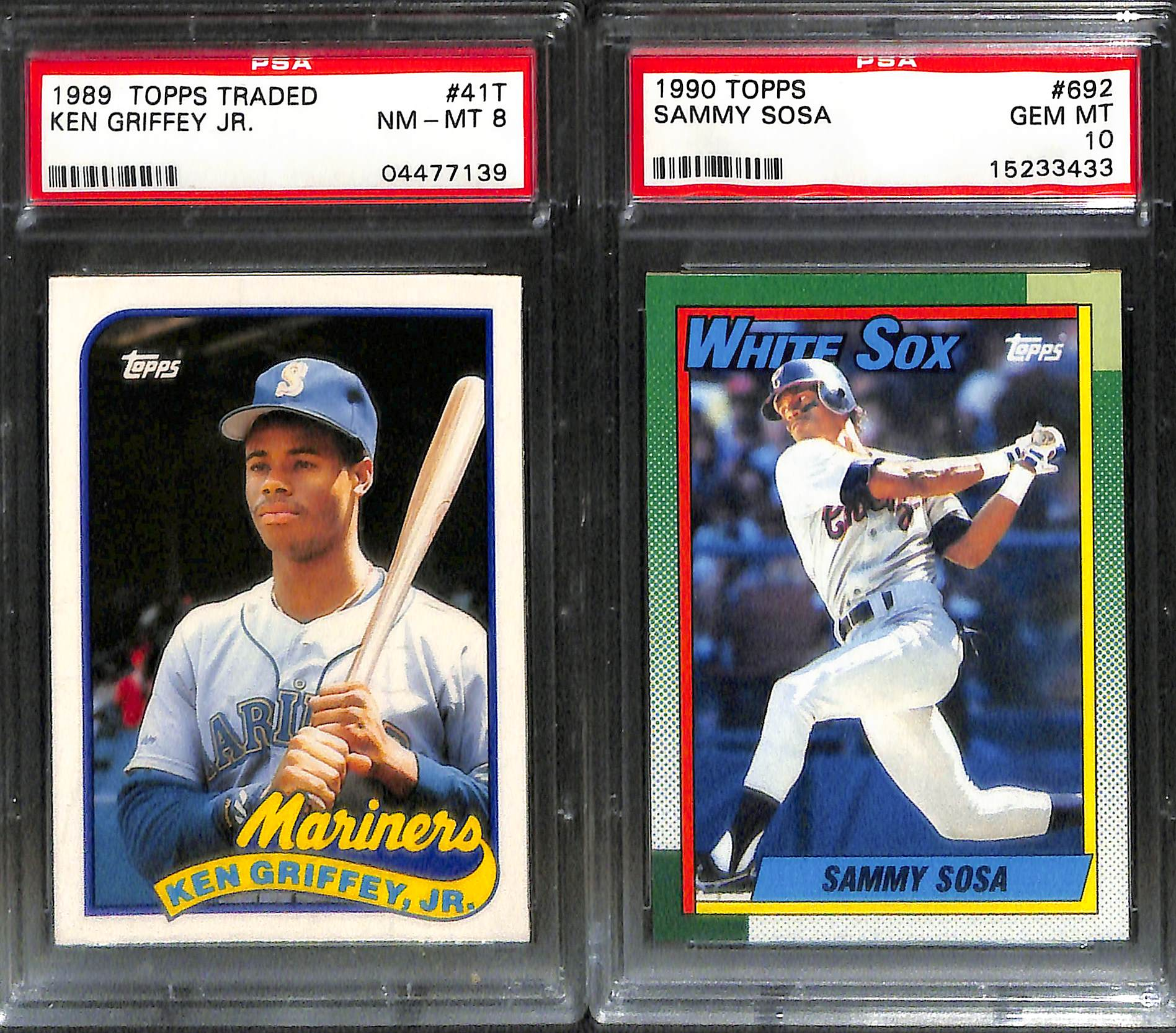 Lot Of 5 Rookie Baseball Cards With Ken Griffey Jr 1989: Lot Of 17 Graded Baseball Rookie Cards From