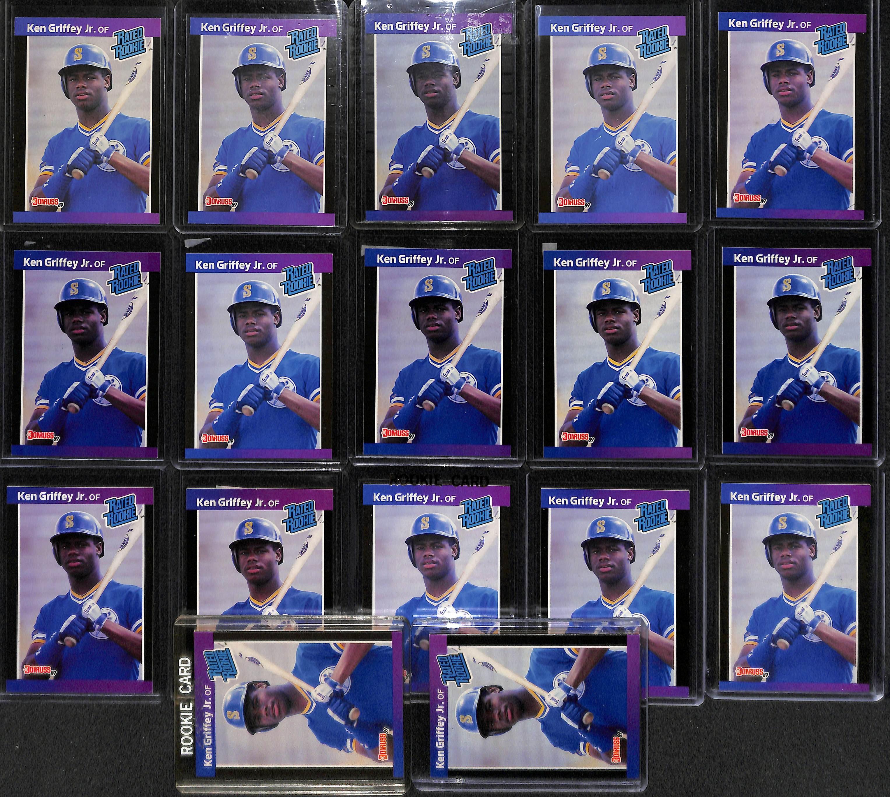 Lot Of 5 Rookie Baseball Cards With Ken Griffey Jr 1989