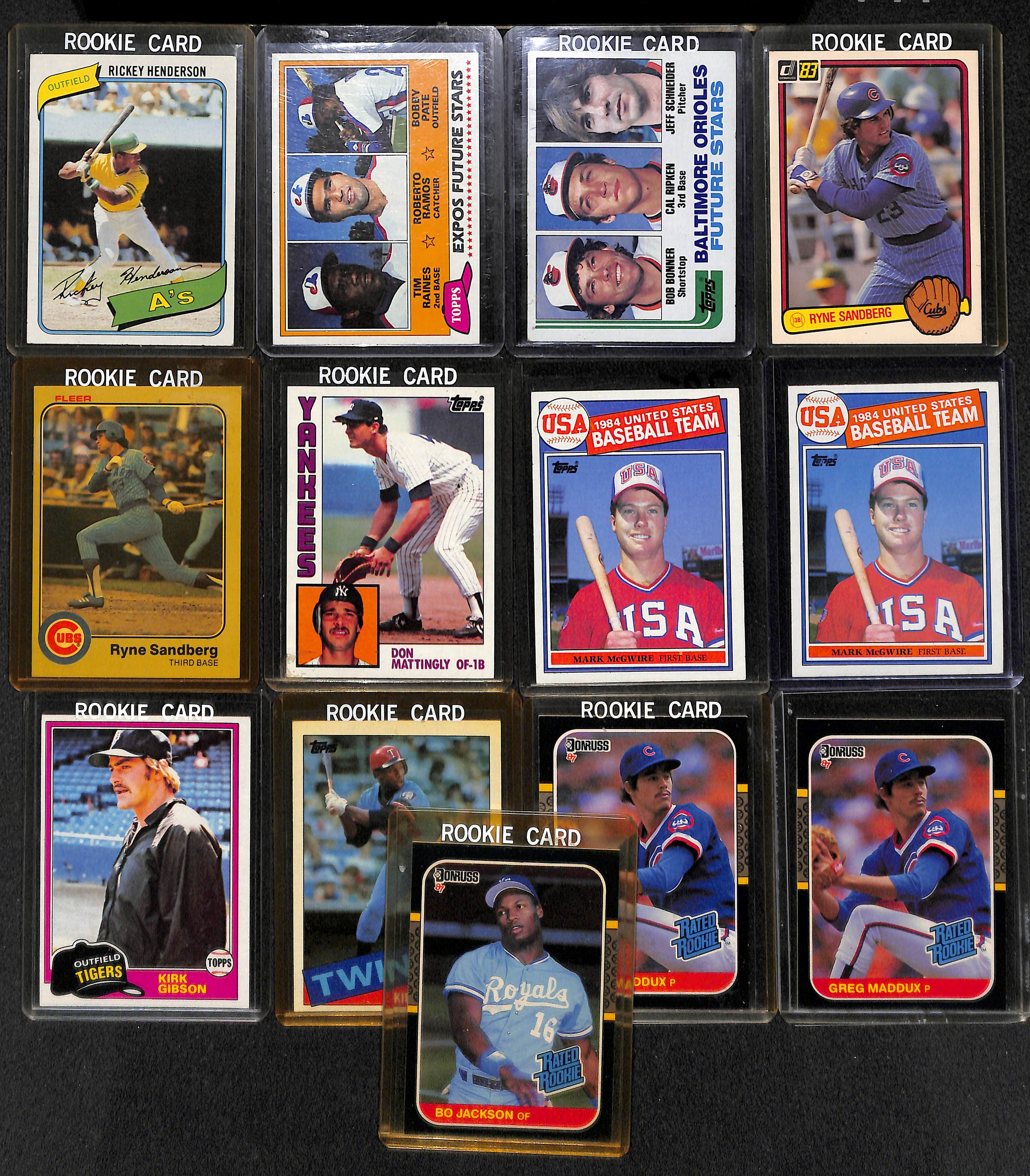 Lot Detail Lot Of 13 Baseball Rookie Cards From The