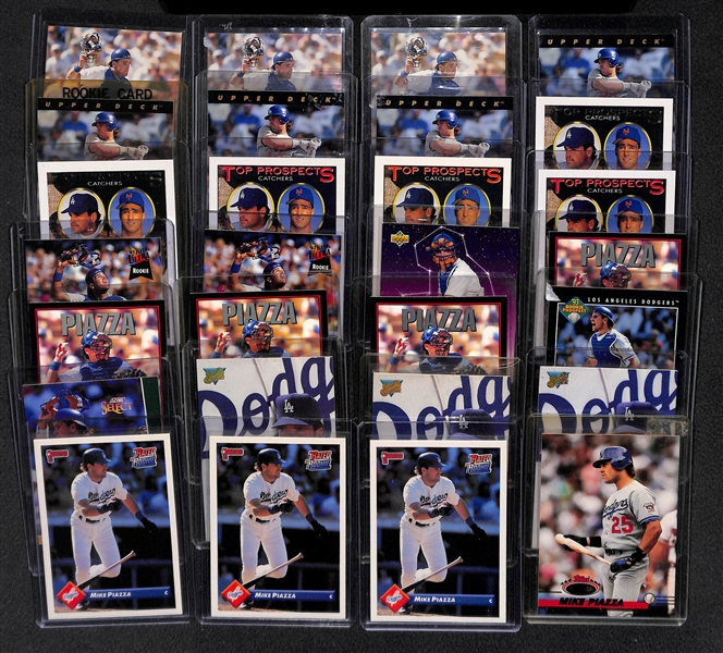 Lot Detail Lot Of 28 1993 Mike Piazza Rookie Cards