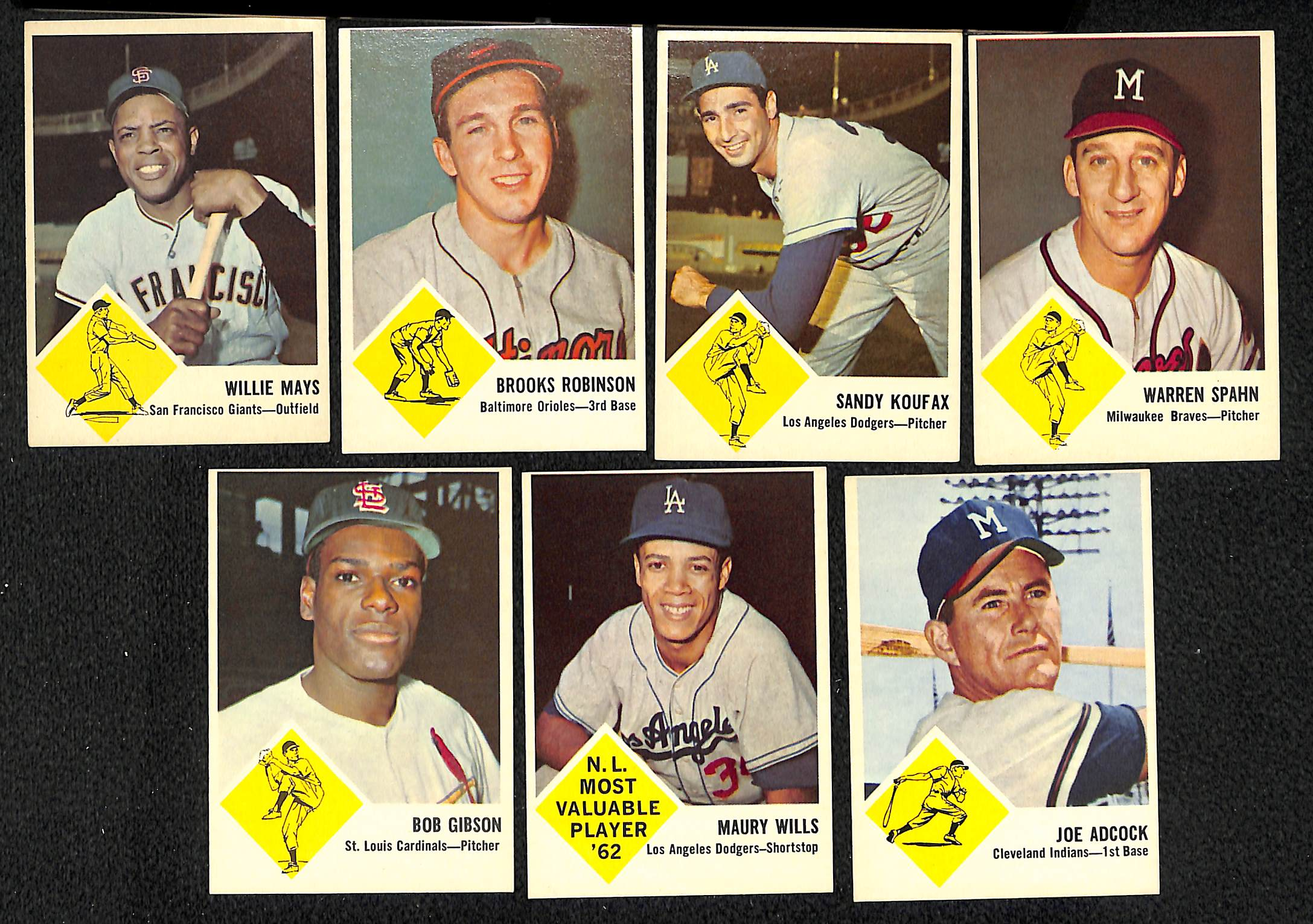 Lot Detail Lot Of 26 Different 1963 Fleer Baseball Cards W