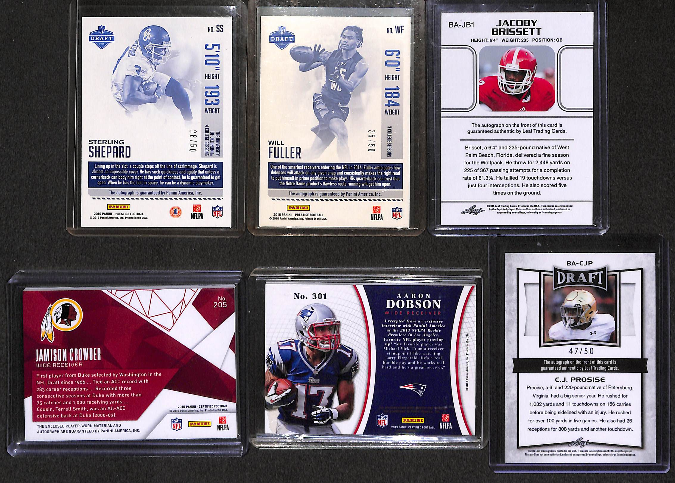 Lot Detail Lot Of 68 Football Autograph Rookie Cards W