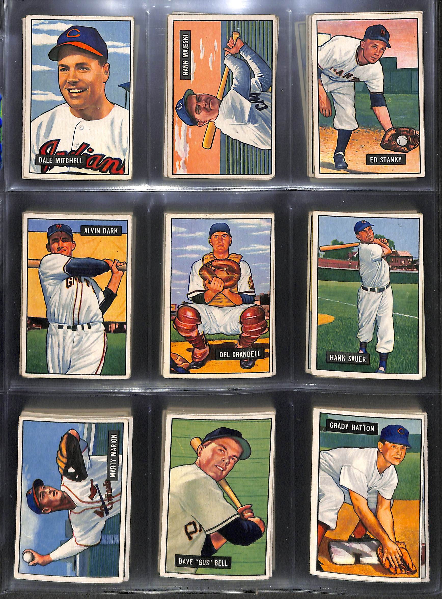 Kell Lot Of 78 Different 1951 Bowman Baseball Cards W