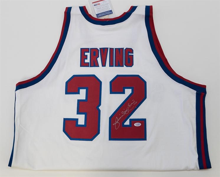 factory authentic e2cd8 da531 Lot Detail - Julius Erving Autographed Virginia Squires ABA ...