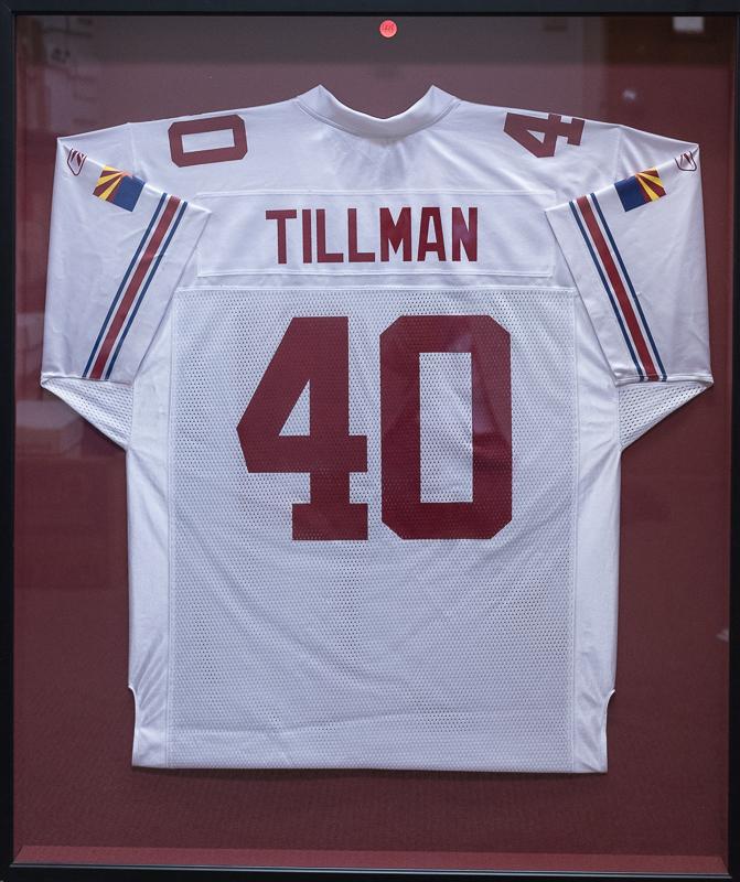 promo code 89af5 a2363 Lot Detail - Pat Tillman Shadowboxed Cardinals Throwback Jersey