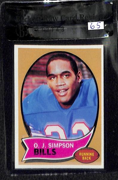 Lot Detail Joe Montana Oj Simpson Rookie Card Lot 2