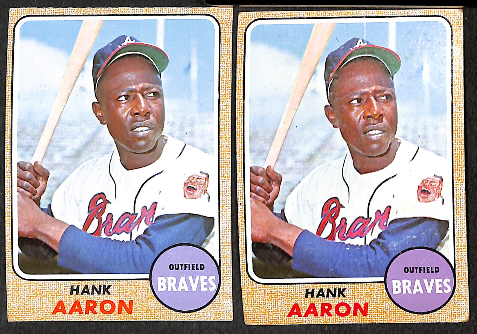 Lot Detail Hank Aaron Topps Baseball Card Lot Of 9 Cards From 1962