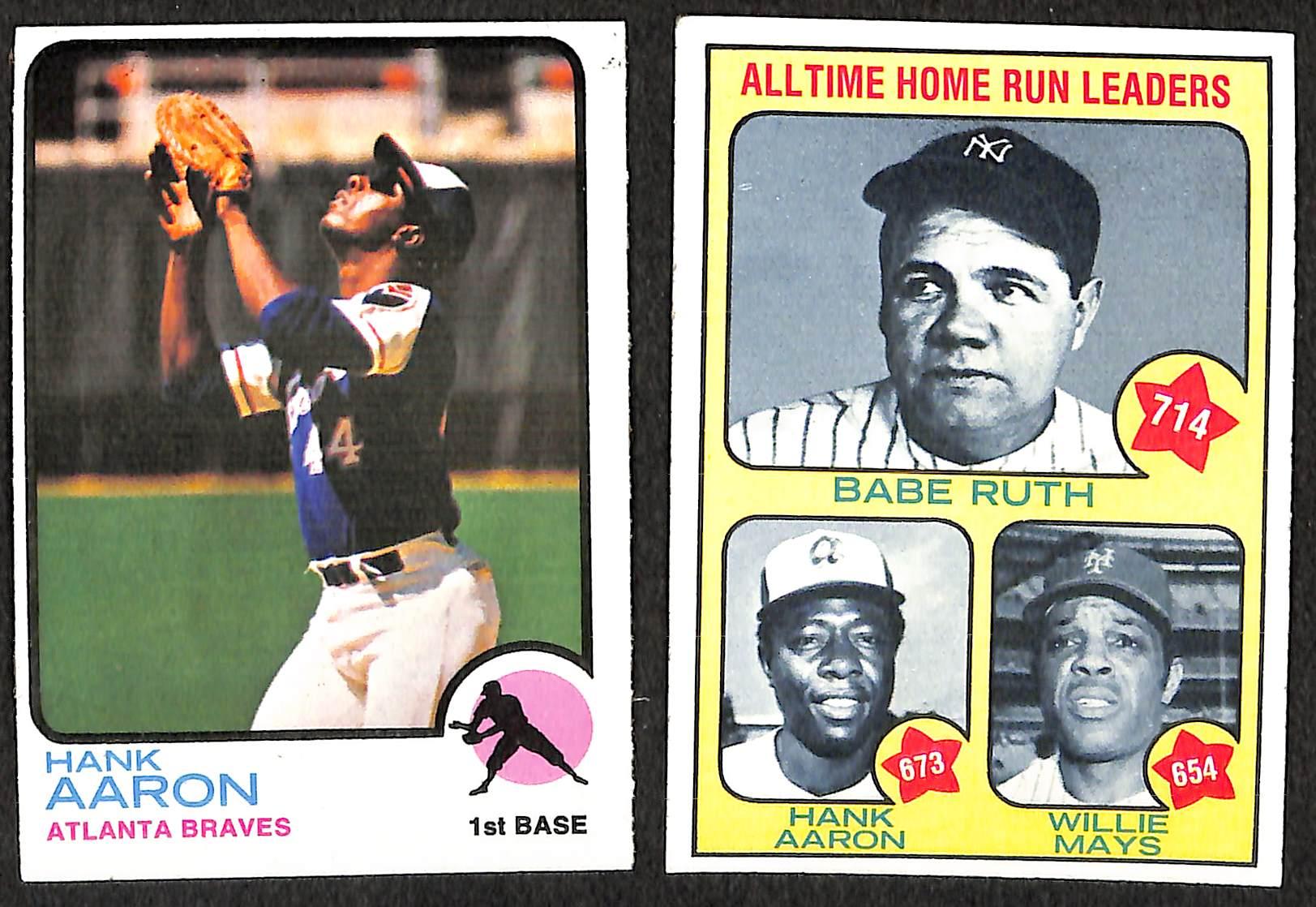 Lot Detail 1973 Topps Baseball Set 1st 4 Series Up To