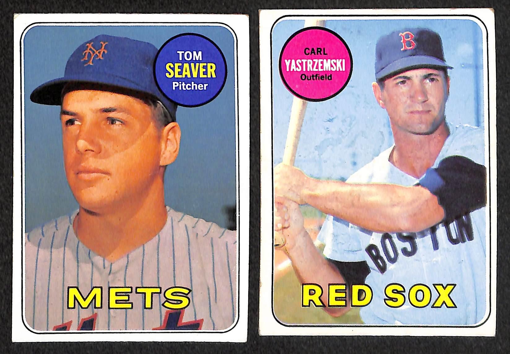 Lot Detail Lot Of 15 1969 Topps Baseball Cards W Reggie