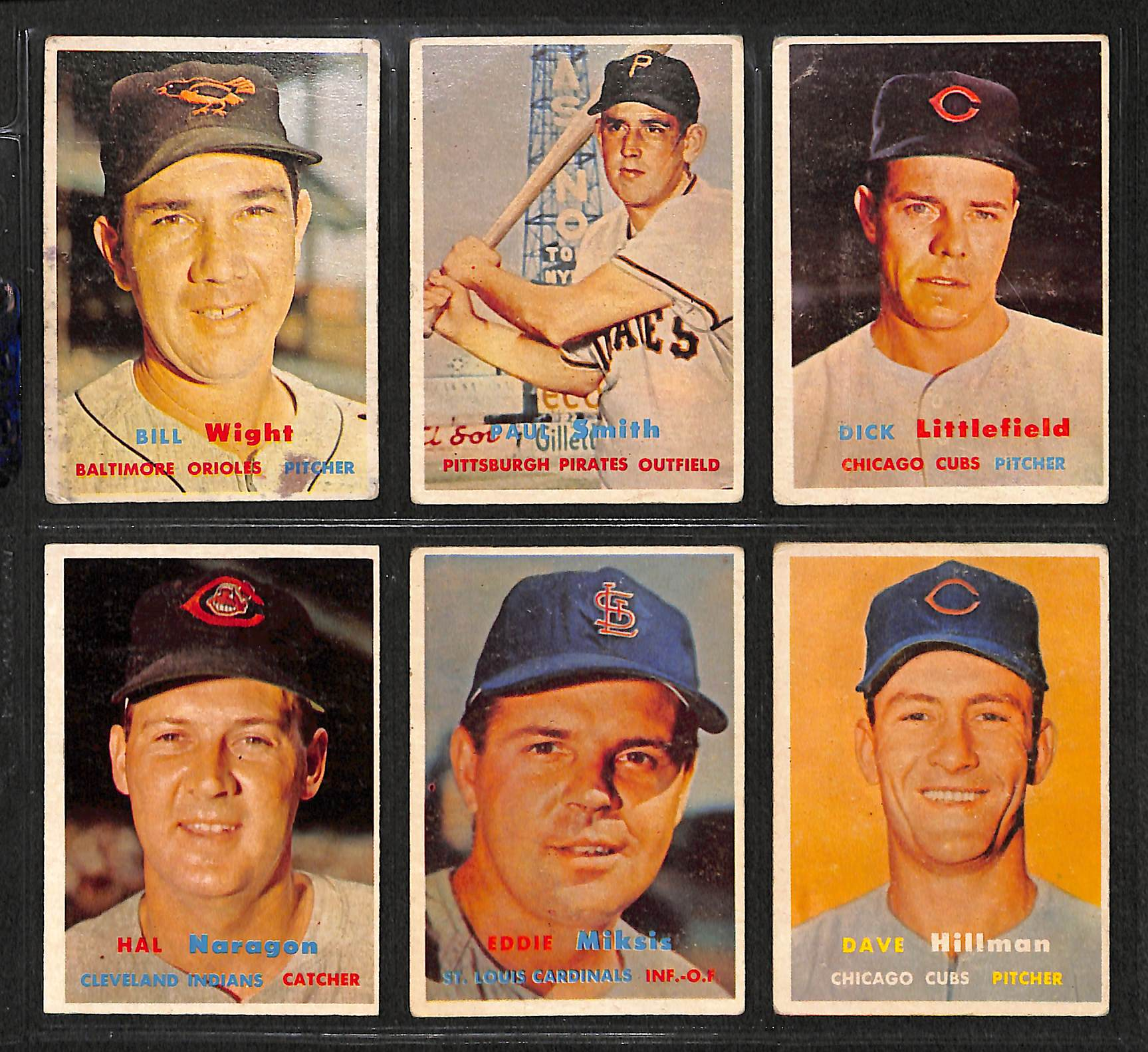 Lot Of 60 Different 1957 Topps Mid-Series