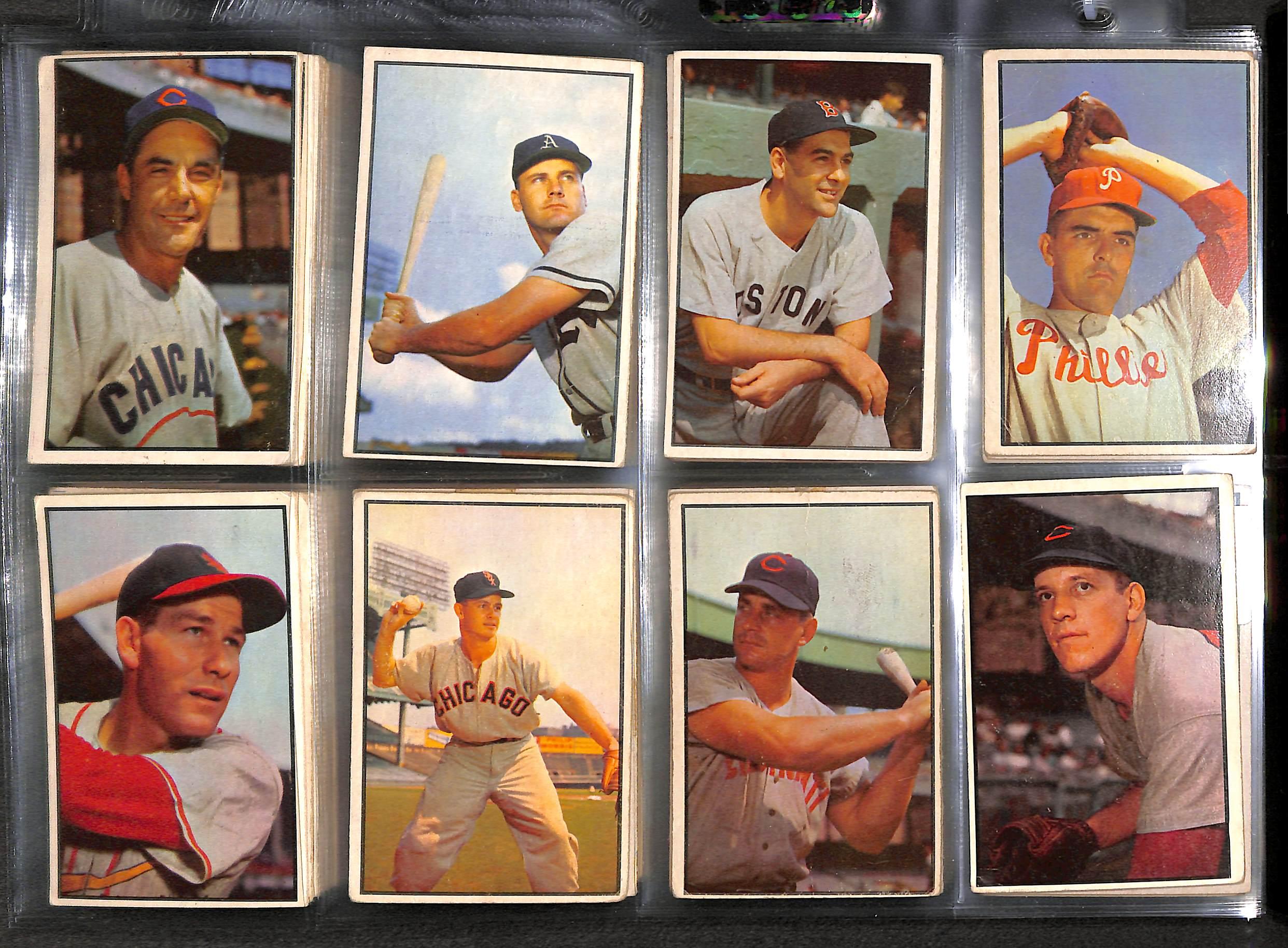 Lot Detail Lot Of 93 1953 Bowman Baseball Cards W Fox Boudreau