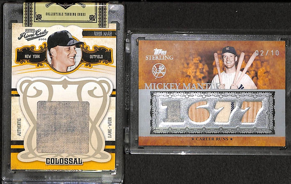 Lot Detail Mickey Mantle And Roger Maris Yankees Game Used Relic Cards