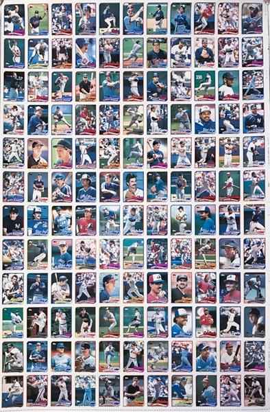 Lot Detail 1989 Topps Baseball Uncut Sheet 3 1990 Topps