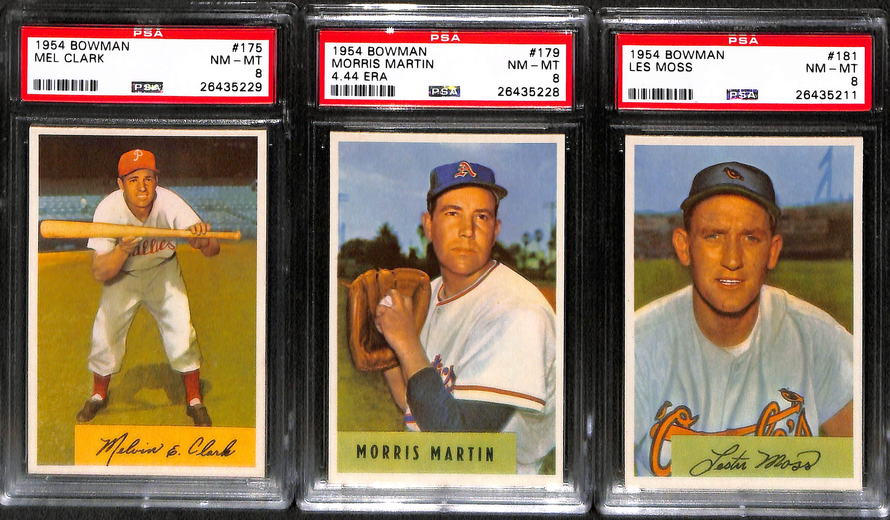 Lot Detail Lot Of 5 High Grade 1954 Bowman Baseball Cards All Psa