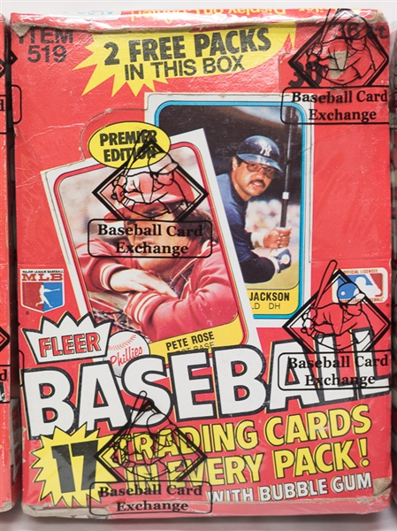 Lot Detail Lot Of 3 Unopened 1981 Fleer Baseball Wax Boxes 3