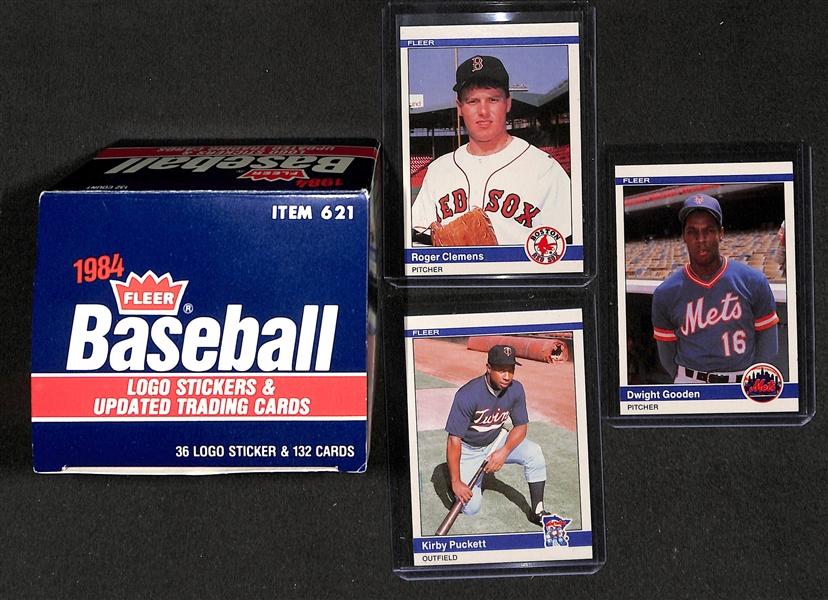 Lot Detail 1984 Fleer Baseball Update Set W Clemens