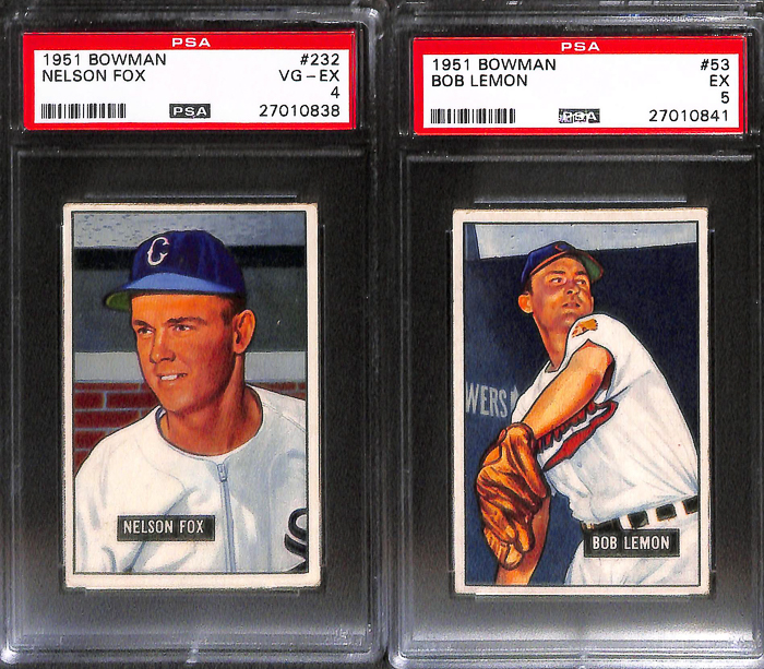 Lot Of 8 1951 1952 Bowman Baseball Cards W Johnny Mize